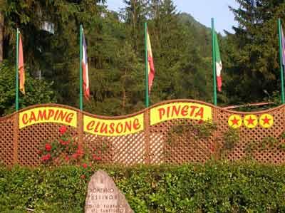 Camping Clusone Pineta Camping Berg