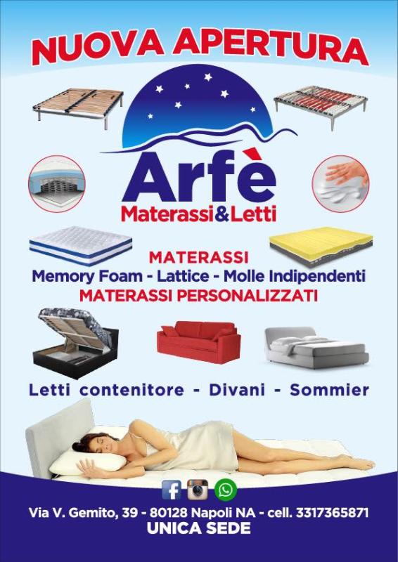 Materassi Su Misura Napoli.Arfe Materassi Materassai Napoli Paginegialle It