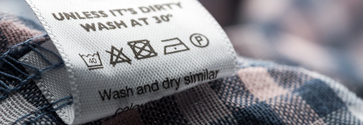 etichetta vestiti