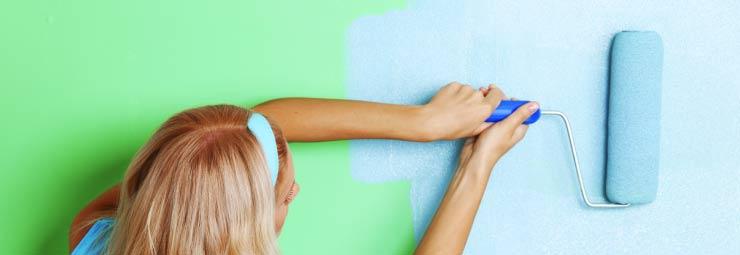 dipingere parete senza sprechi