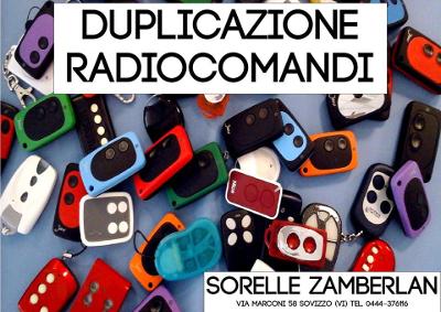 DULICAZIONE RADIOCOMANDI