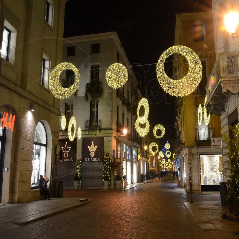 Natale, luminarie natalizie, luci, fibra di vetro, cerchi luminosi