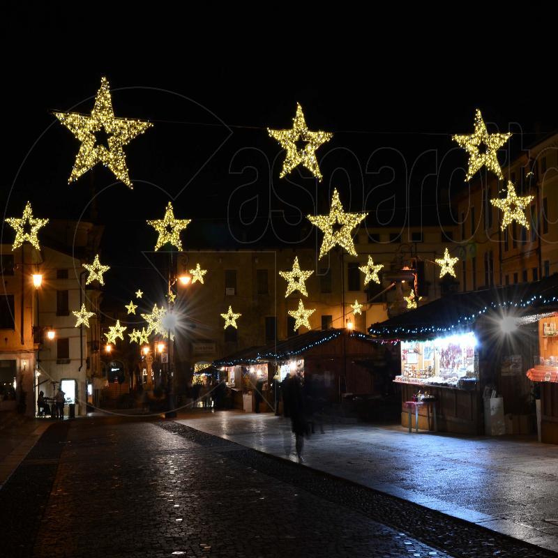 Natale, luminarie natalizie, luci, fibra di vetro, stelle luminose