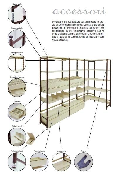 Dettagli accessori scaffalature Scaffalature KM