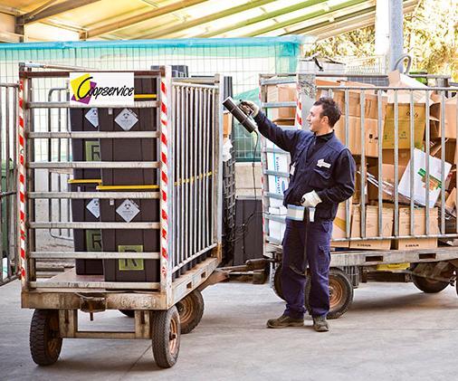 logistica gestione rifiuti