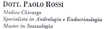 Andrologo Dr. Rossi Paolo