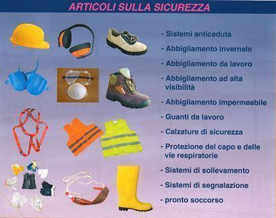 materiale ed attrezzature antinfortunistica