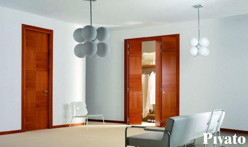 Porte da interni in legno ciliegio