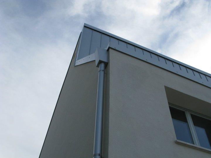 Rivestimento Aggraffato ePluviale in Allumino silver Lucernario Termoformato in Policarbonato compatto a parete doppia So.Edil Alcamo