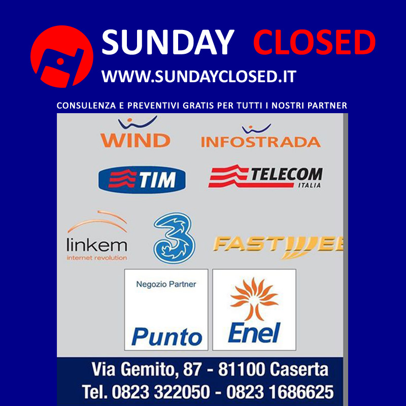 Sunday Closed Service  Punto  Wind Tim Tre Enel