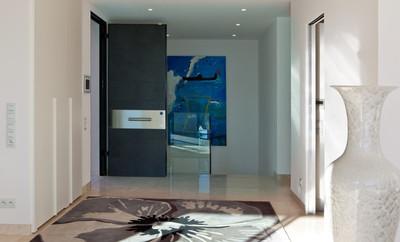 porta blindata nera