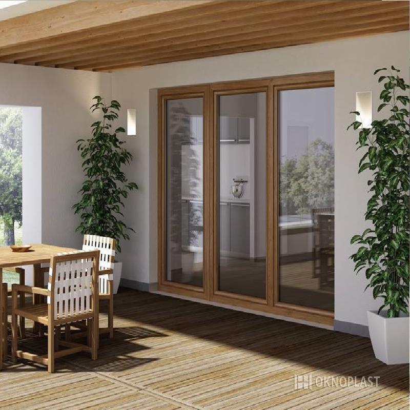 finestre alzanti in legno Oknoplast