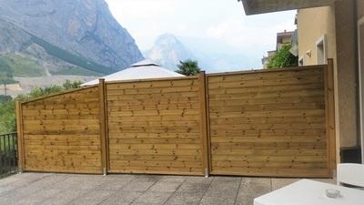 pannellatura chiusa - divisorio - legno impregnato - Garden Center Bernardi