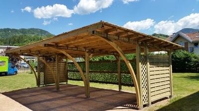 pergolato - copertura auto - legno impregnato - Garden Center Bernardi