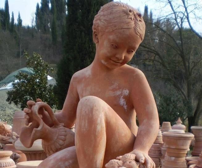 ANTICA FORNACE M.I.T.A.L. Statua bambina con brocca