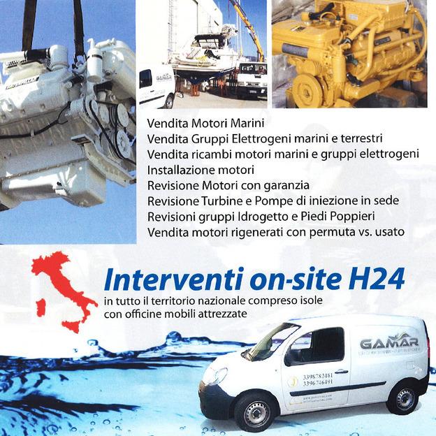 assistenza motori marini