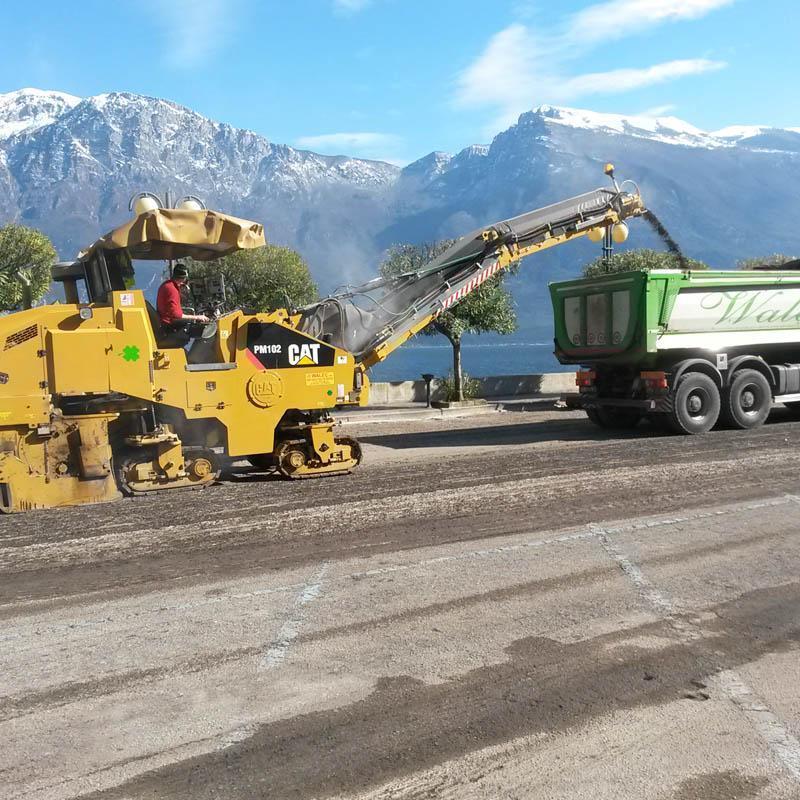 realizzazione di asfalto
