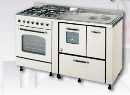 Cucine abbinate gas legna