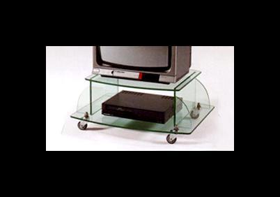 Mobile porta tv in cristallo
