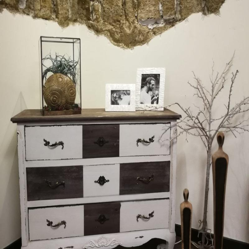 Mobile - legno - vintage - vaso - cornici