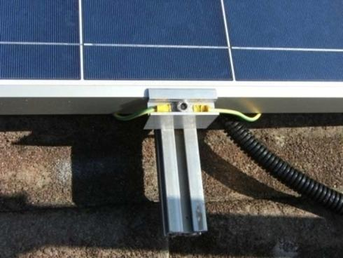 dettaglio pannello fotovoltaico