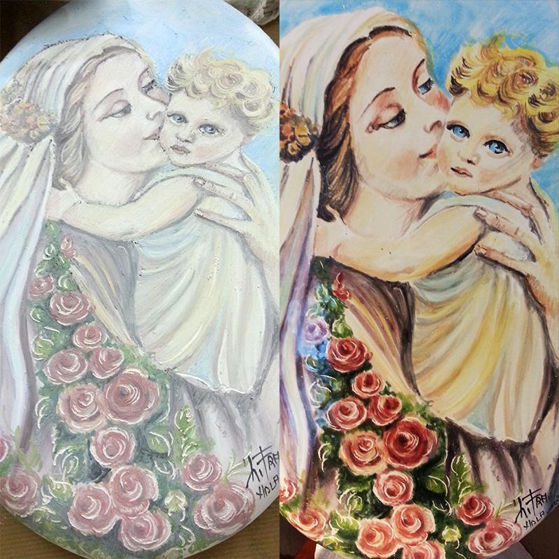 Disegno e pittura su ceramica