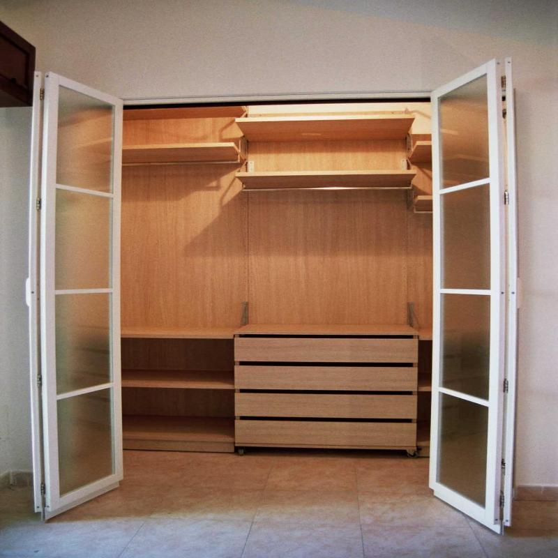cabina armadio porte  a vetro laccate