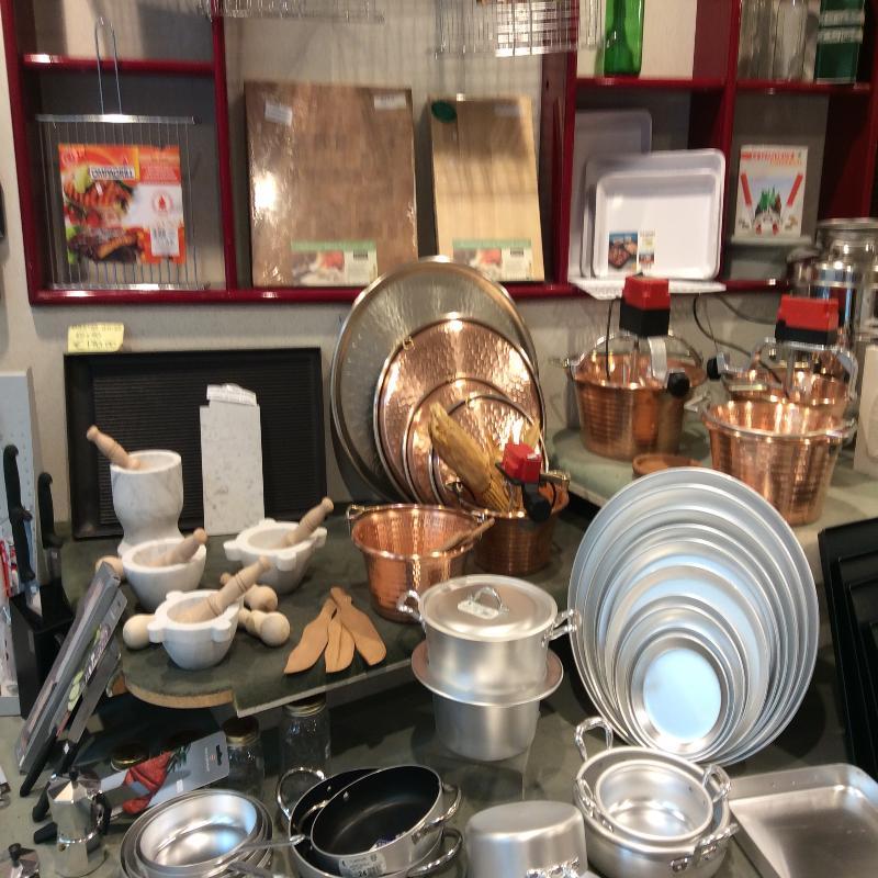 utensili teglie e tagami rame alluminio da cucinaFERRAMENTA PIOMBO Chiavari
